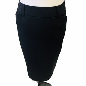MAX MARA Weekend Black Stretch Pencil Skirt 6